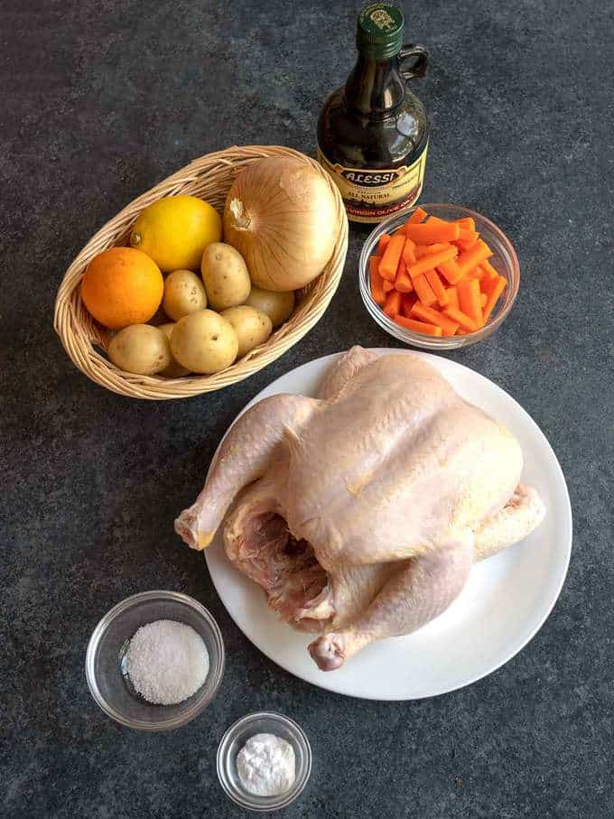 Ingredients for Dry Brined Roast Chicken
