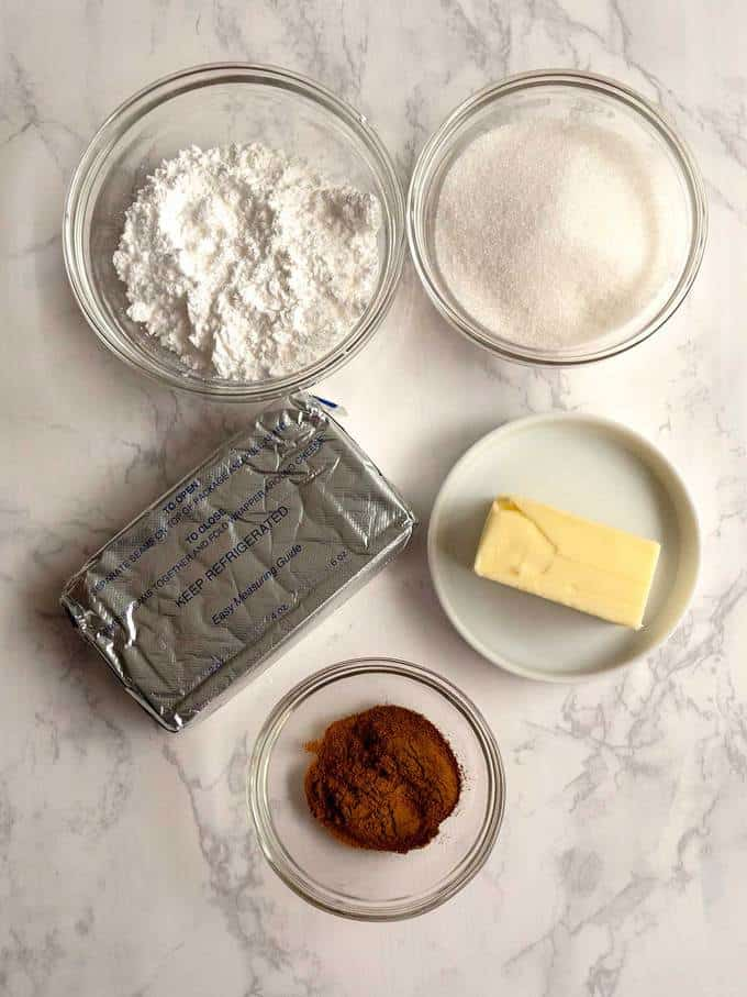 """Ingredients for Filling the """"Chris"""" Kringle Cakes"""