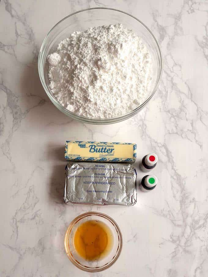 """Icing Ingredients for """"Chris"""" Kringle Cakes"""