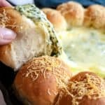 Spinach Artichoke Bread Ring Dip