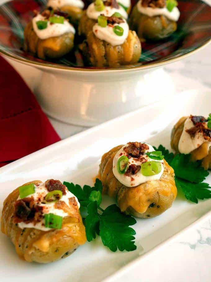 Loaded Hasselback Potato Bites