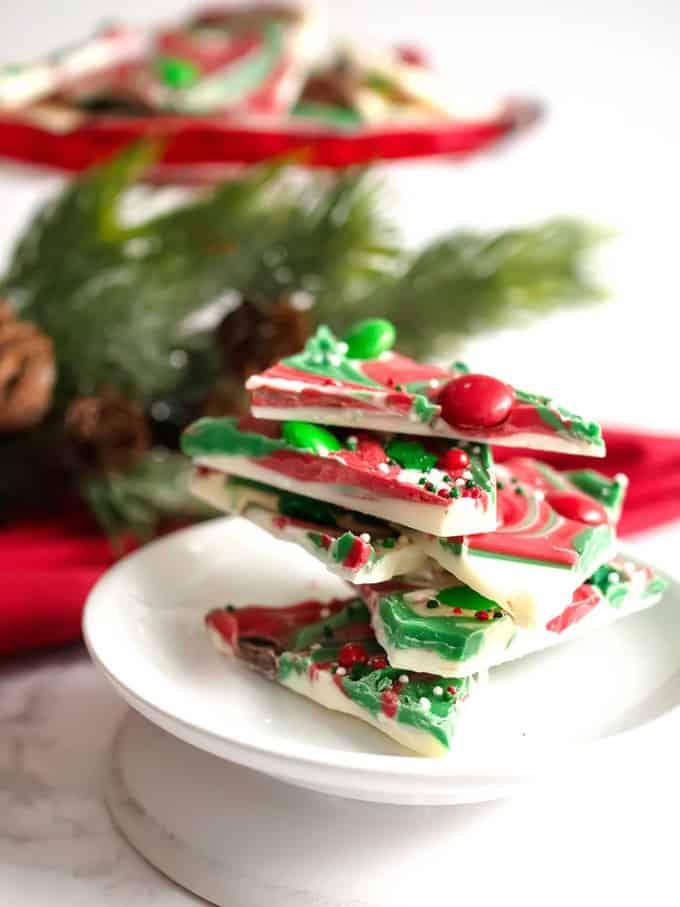 Christmas Swirled Peppermint Bark