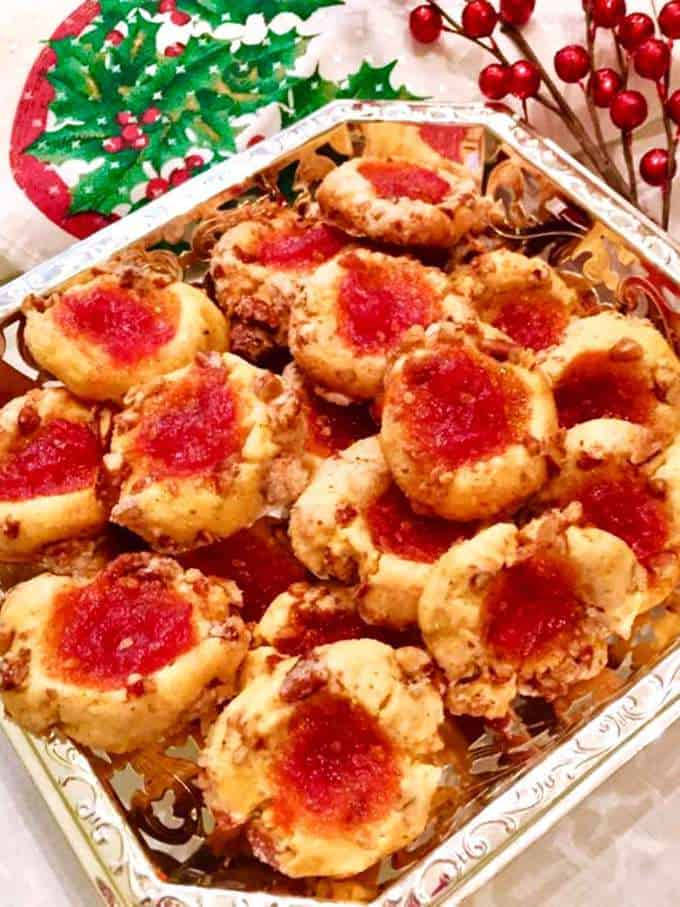 Cornmeal Cookies with Tomato Jam