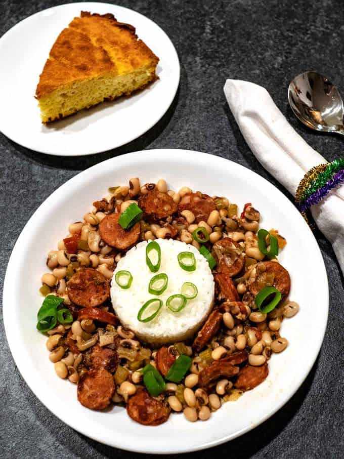 Southern Black Eyed Peas with Andouille