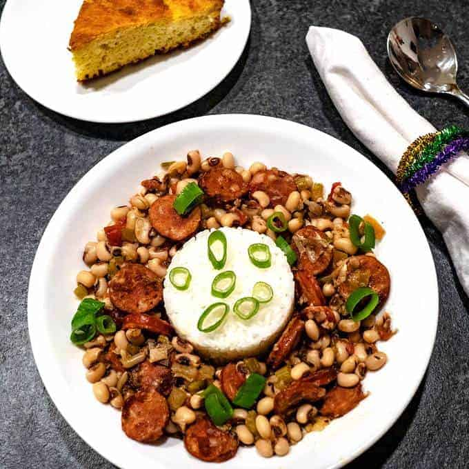Southern Black Eyed Peas with Andouille Sausage