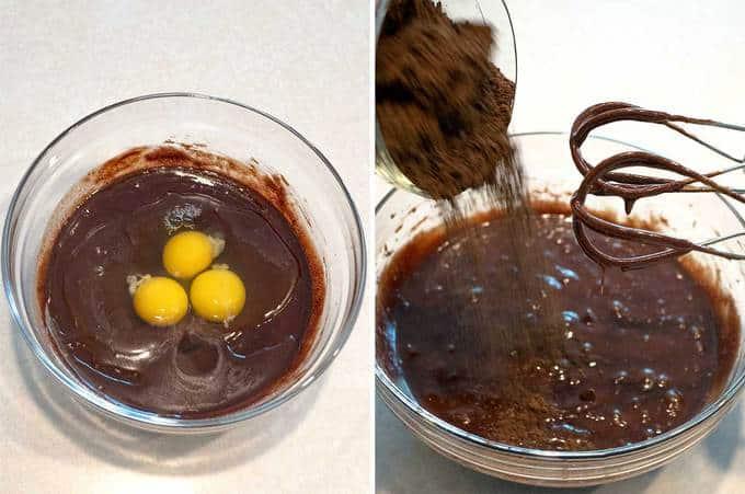 Finishing Batter for Flourless Chocolate Cake