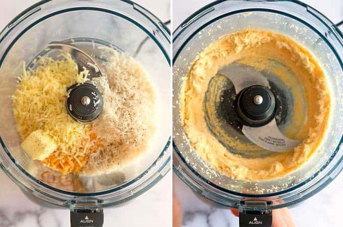 Fromage Fort Ingredients in Food Processor