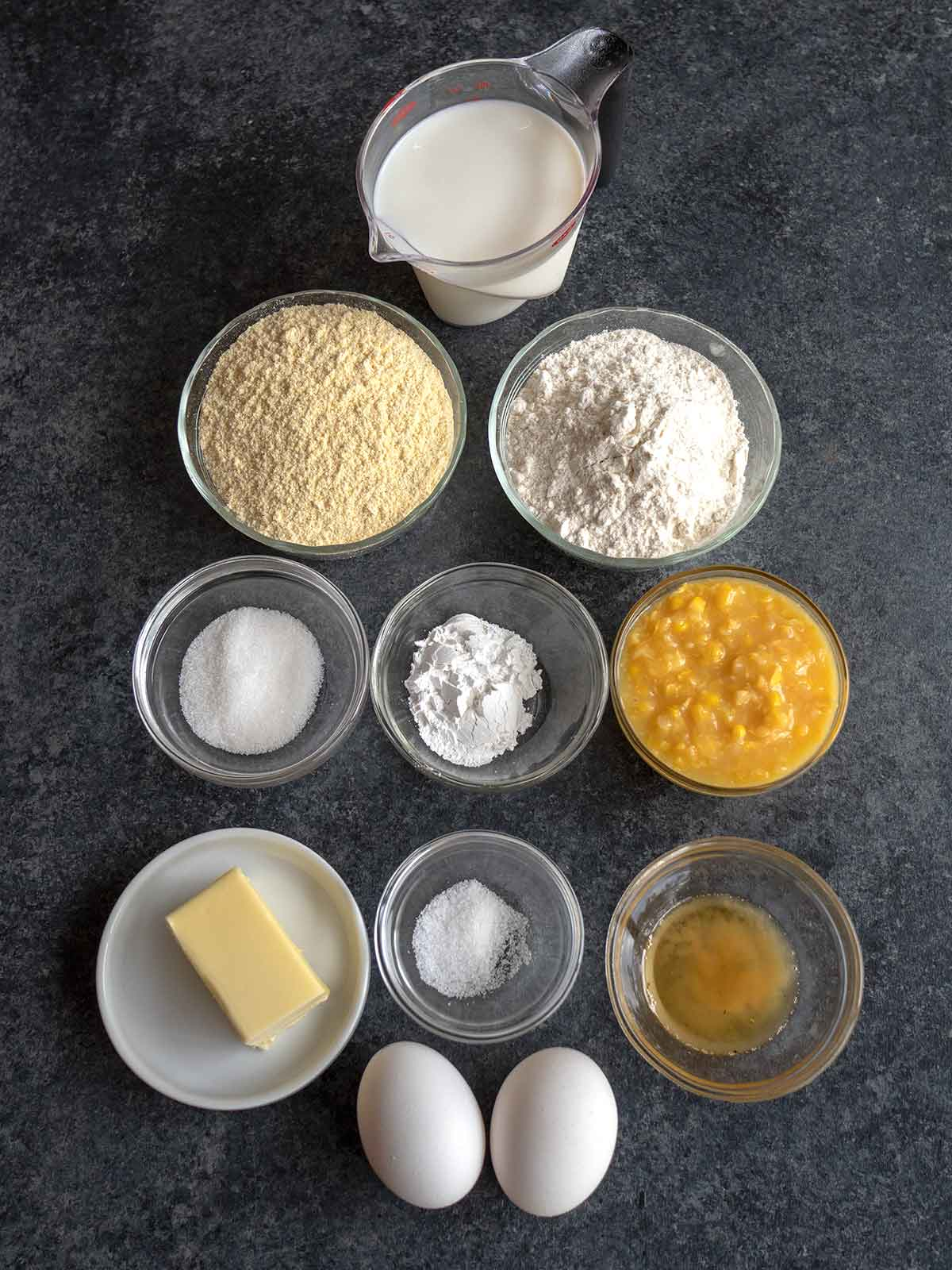 Ingredients for Louisiana Skillet Cornbread