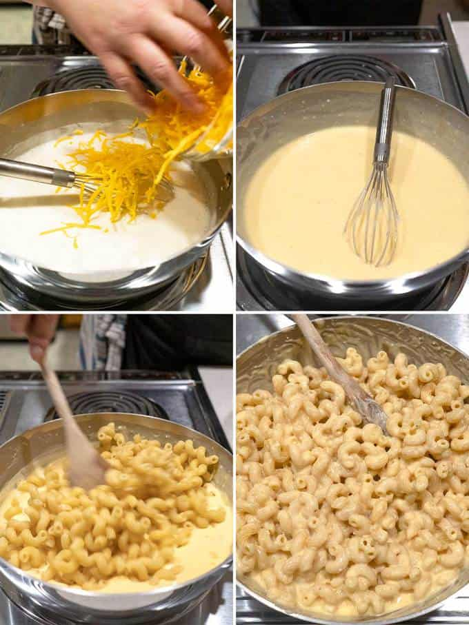 Finishing the Stovetop Mac & Cheese