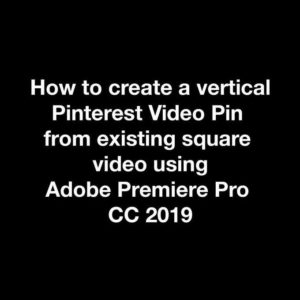 Create Vertical Pinterest Pin