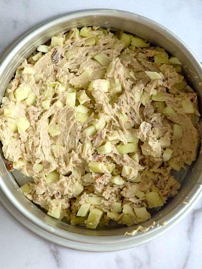 Cake Batter in Pan ready to bake