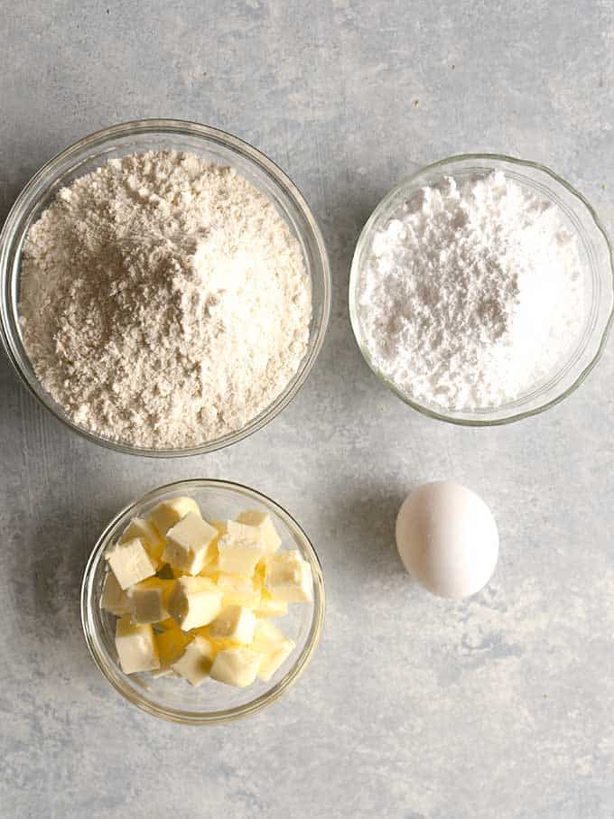 Ingredients for Pate Sucree