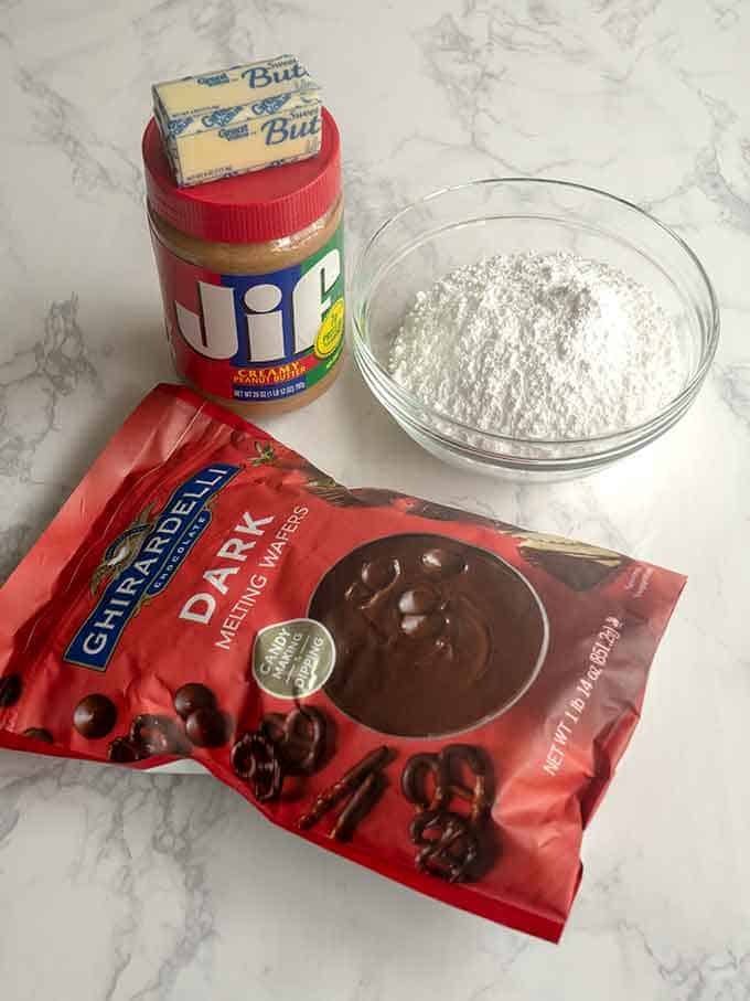 Ingredients for Peanut Butter Filling for Ultimate Tagalongs
