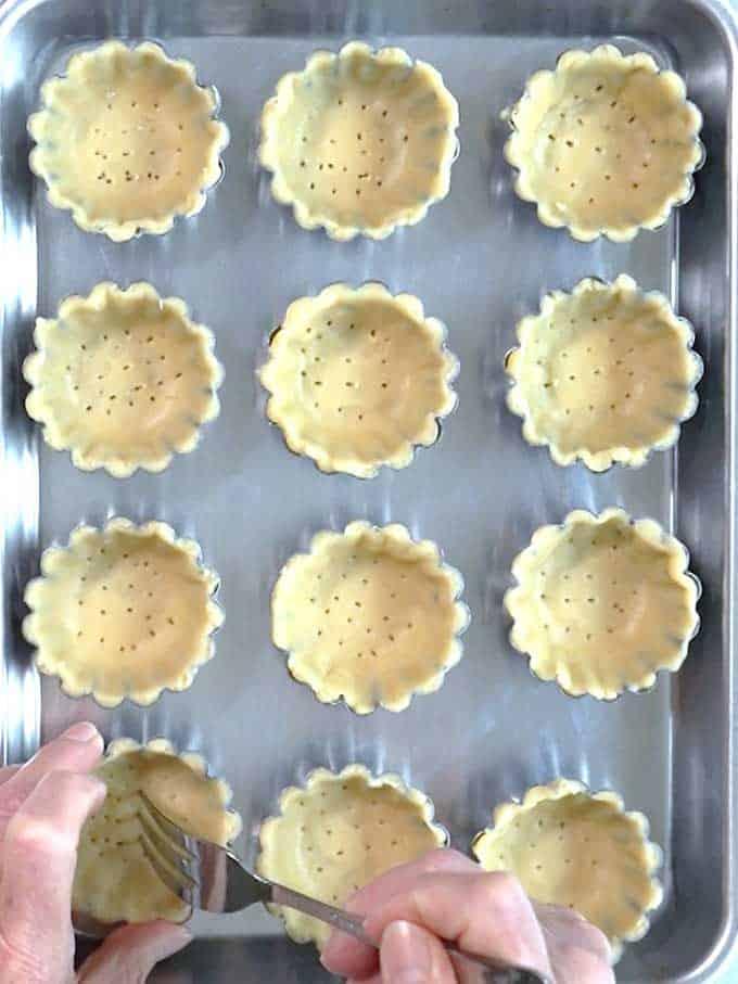 Pricking Mini Tart Shells