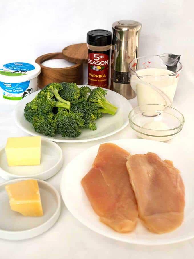 Ingredients for Make Ahead Chicken Divan