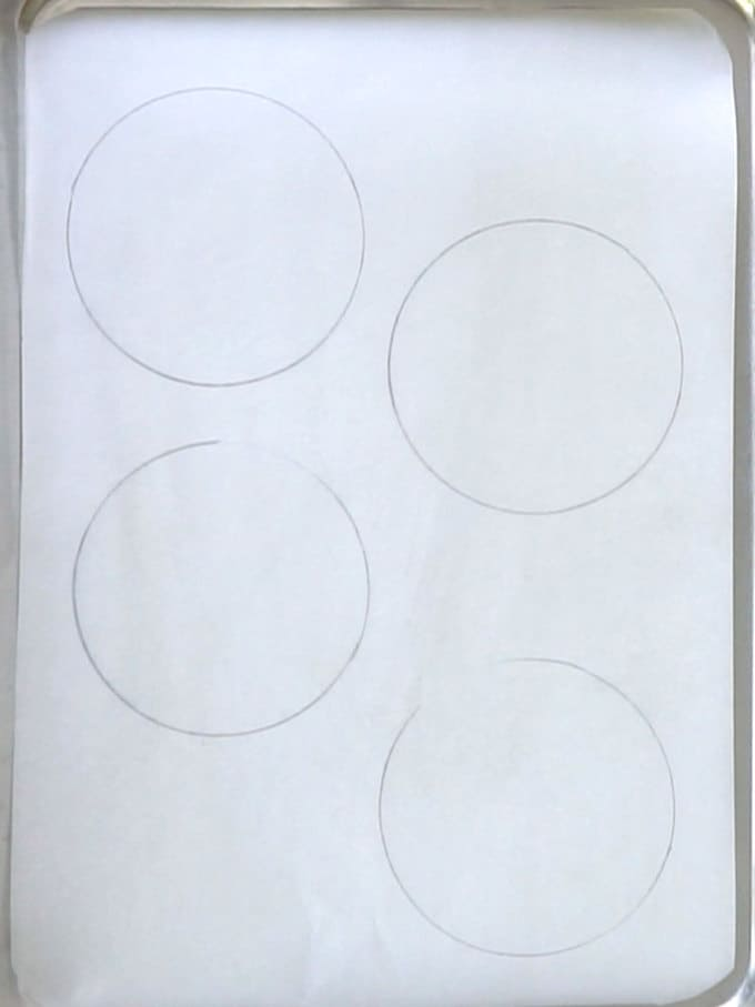 Drawn Circles on Underside of Parchment Paper