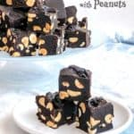 Old-Fashioned Chocolate Fudge with Peanuts