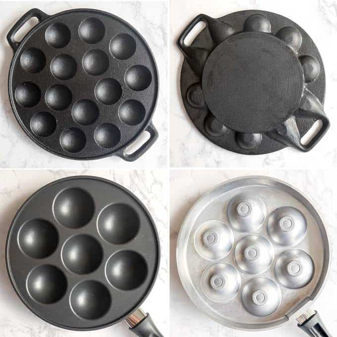Comparison of Poffertjes and Ebelskivers Pans