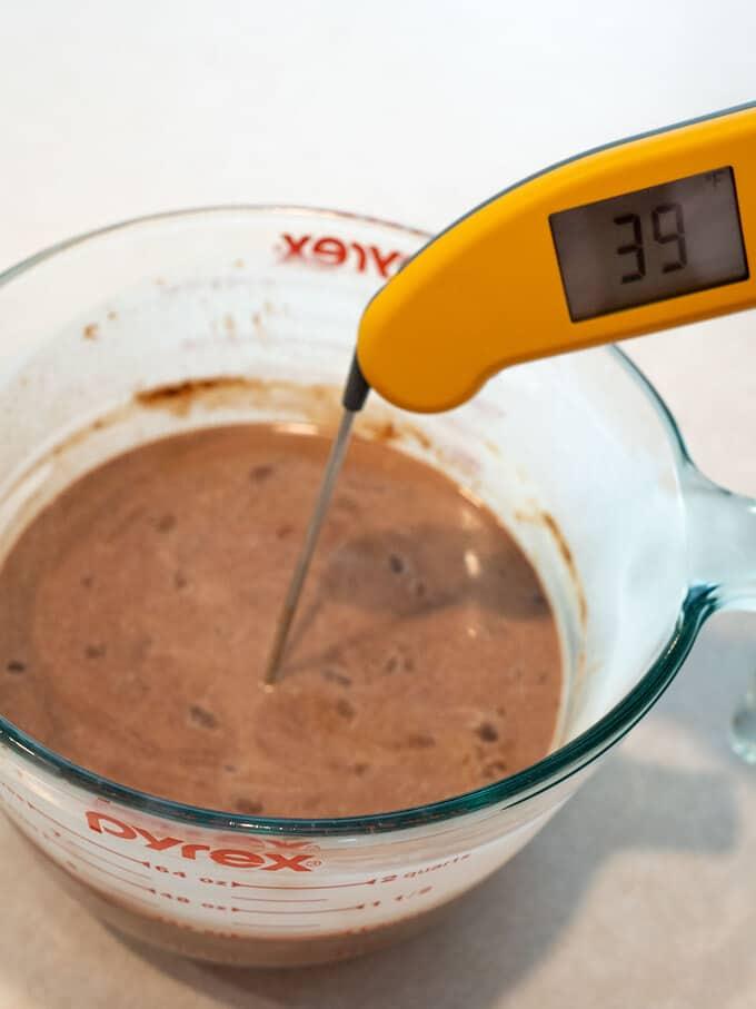 Gelato mixture at 39° F