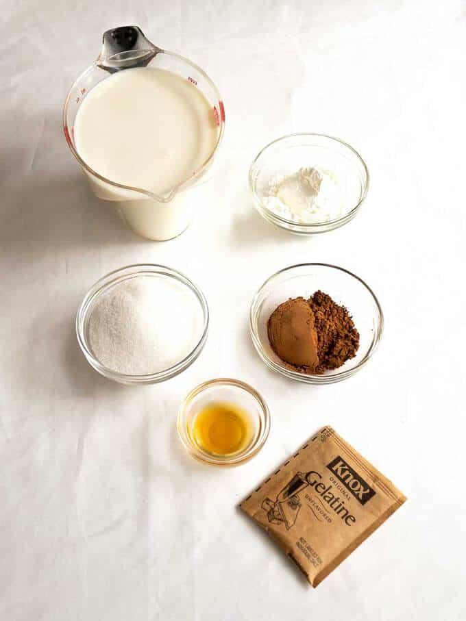 Ingredients for Blancmange