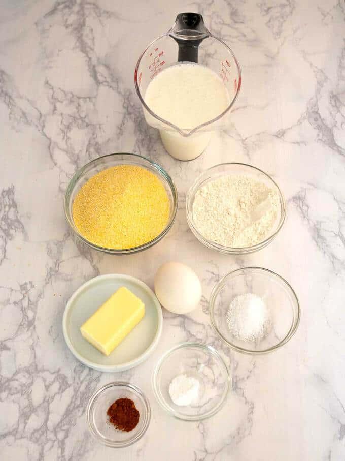 Ingredients for Cornbread Sticks