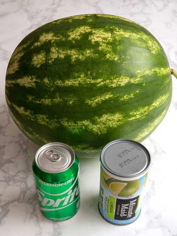 Ingredients for Watermelon Granita