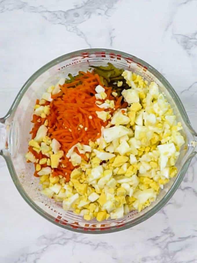 Remaining ingredients for Macaroni Salad