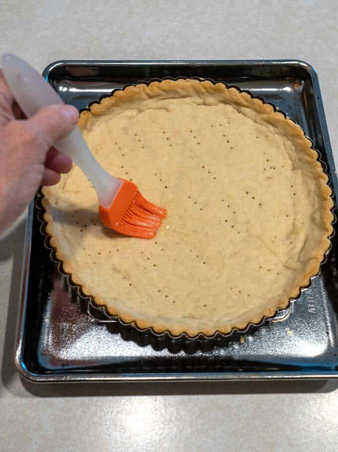 Brushing Cracks with Quiche Mixture