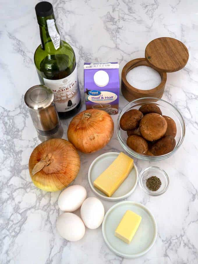 Ingredients for Quiche Filling