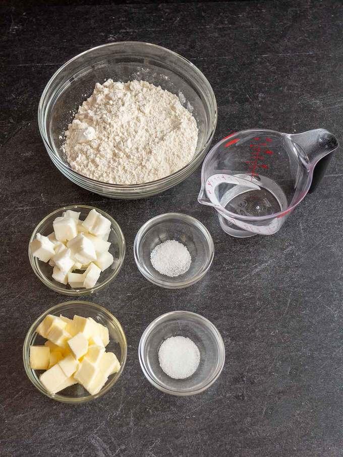 Ingredients for Quiche Crust