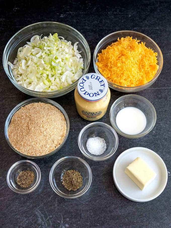 Ingredients for Glamorgan sausages