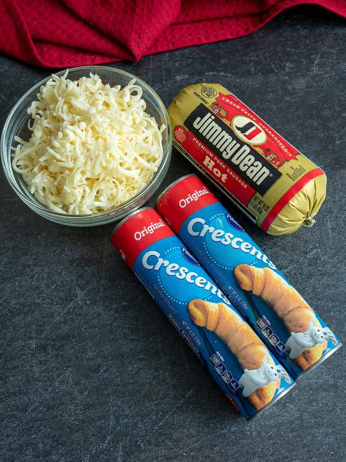 Ingredients for Sausage & Cheese Crescent Ring