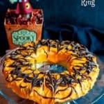 Halloween Nutella Cinnamon Roll Ring