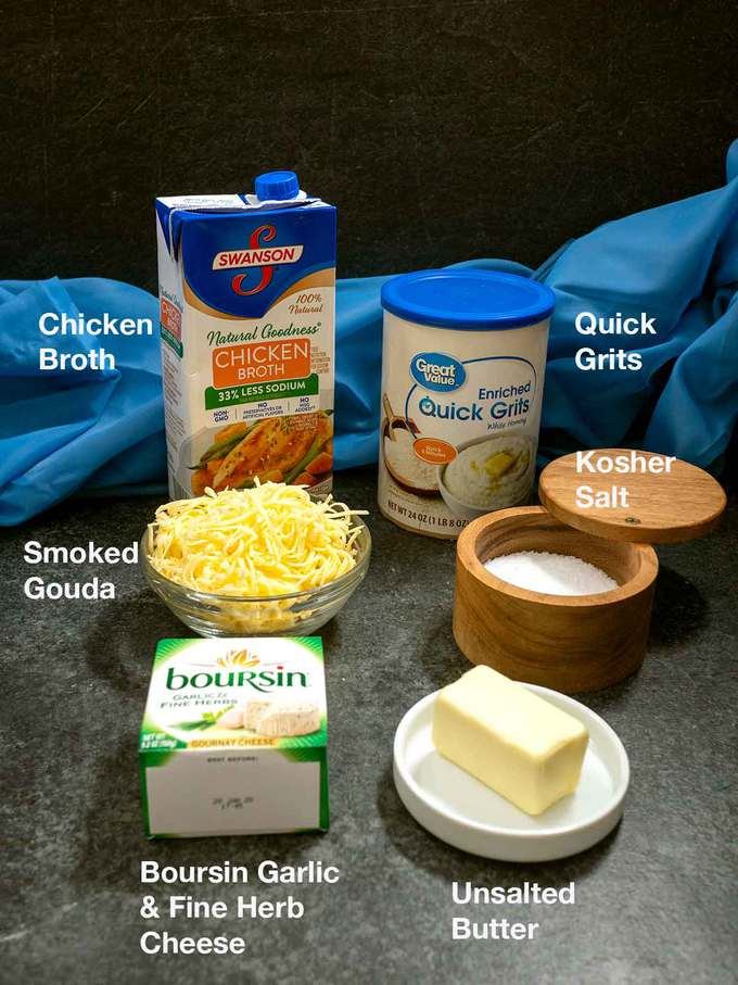 Ingredients for Boursin Grits