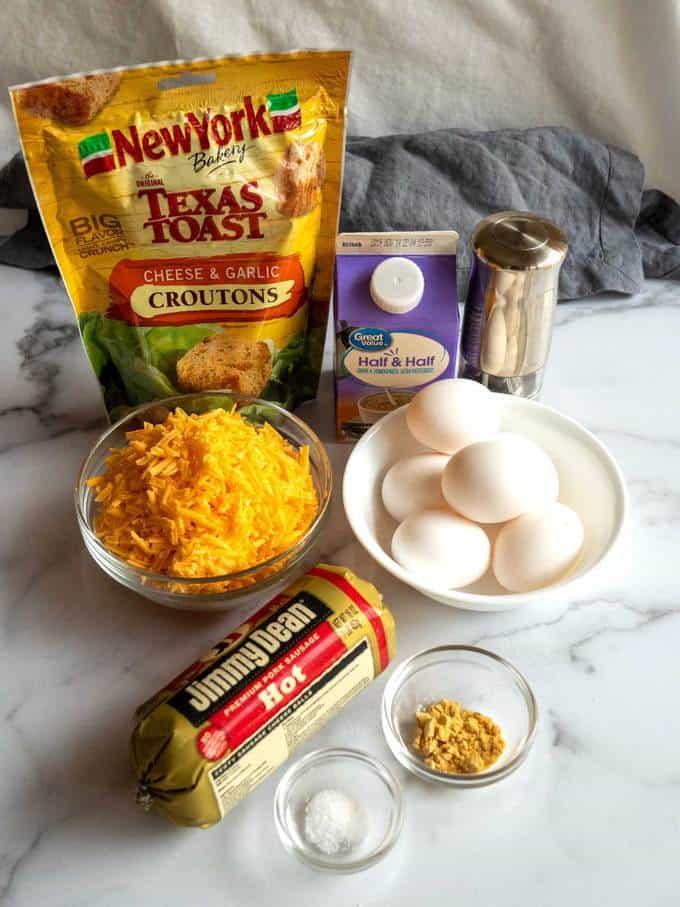 Ingredients for Make-Ahead Breakfast Casserole