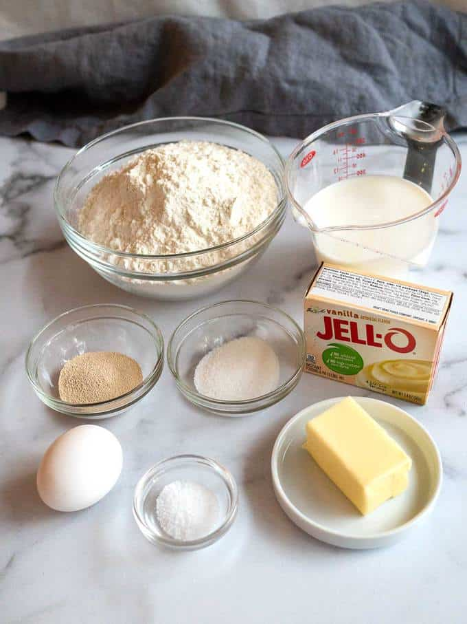 Ingredients for Cinnamon Roll Dough