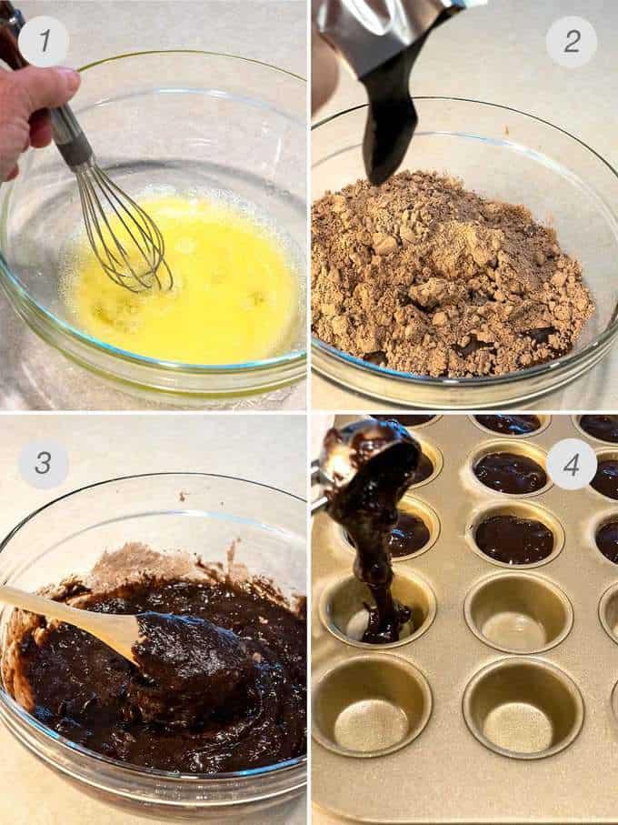 Process Photos of Making Brownies