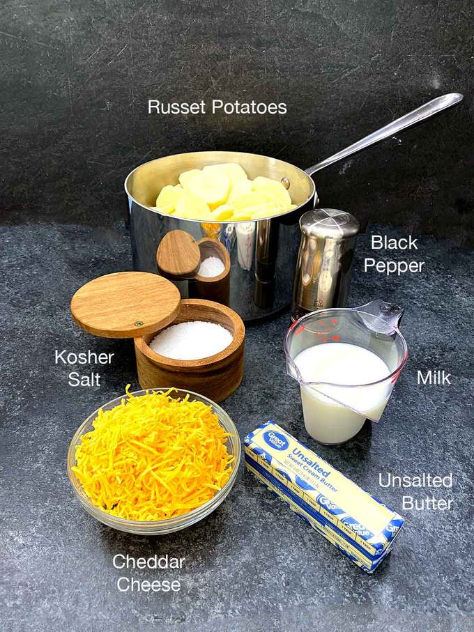 Ingredients for mashed potatoes