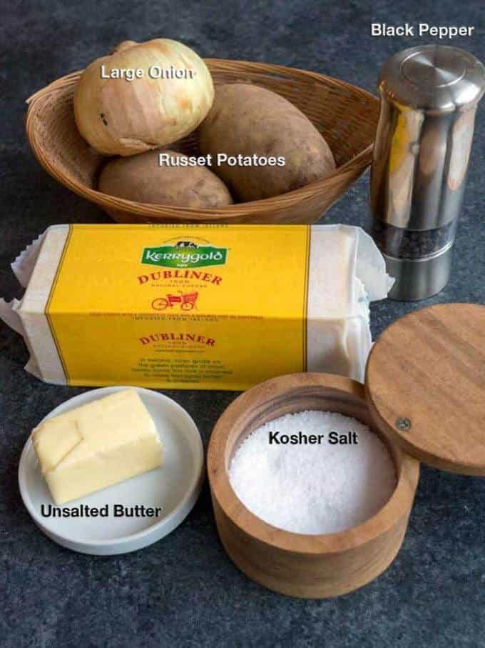Ingredients for Irish Pan Haggerty
