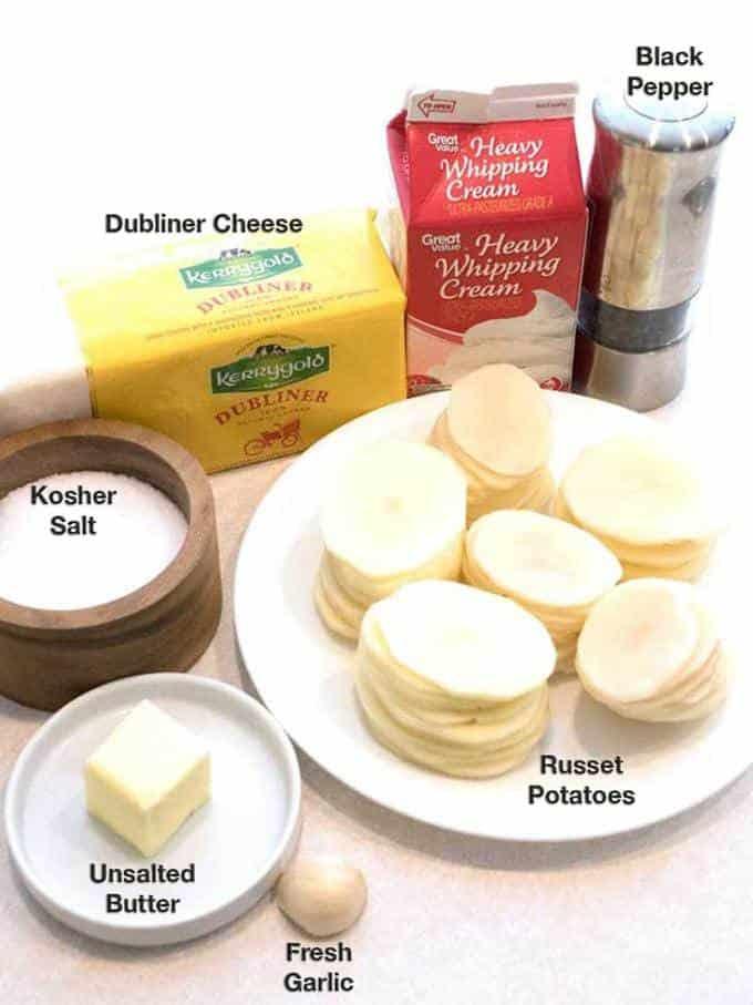 Ingredients for Irish Stacked Potato Bites