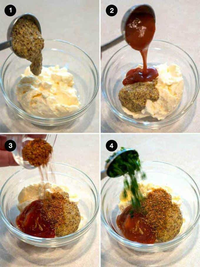 Steps to making the Spicy Dipping Sauce