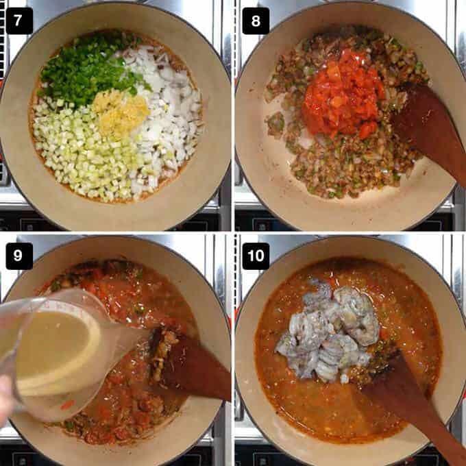 Making the Shrimp Étouffée