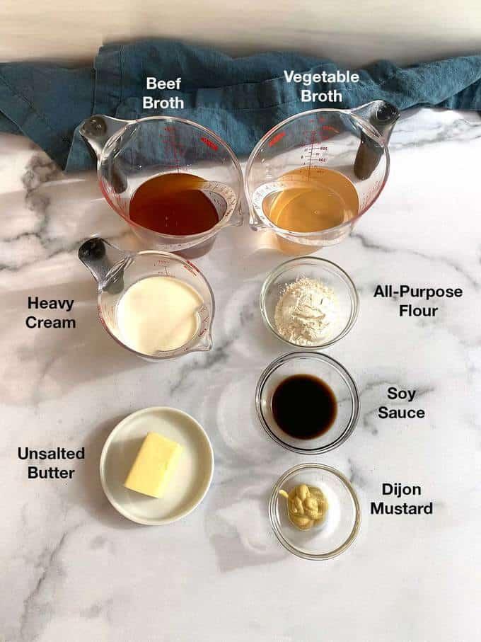 Ingredients for Cream Sauce for Ikea's Swedish Meatballs