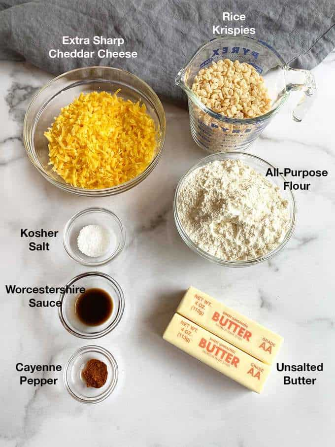 Ingredients for the cheese wafers