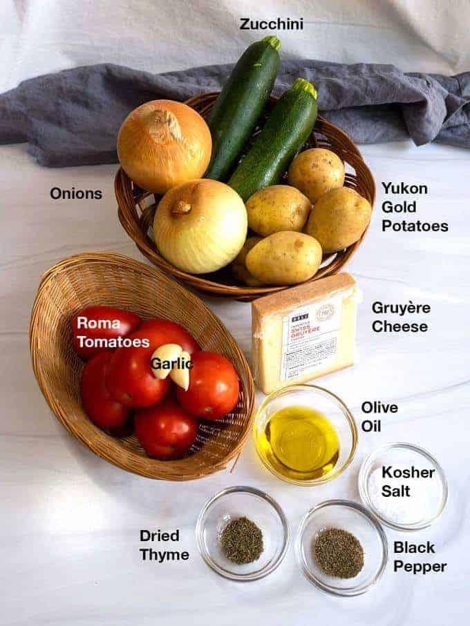 Ingredients for Vegetable Tian