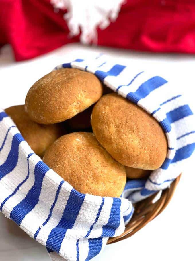 Delicious Oat Rolls in a Bread Basket