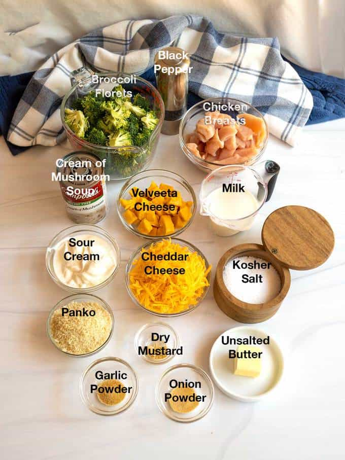 Ingredients for Make-Ahead Chicken Divan