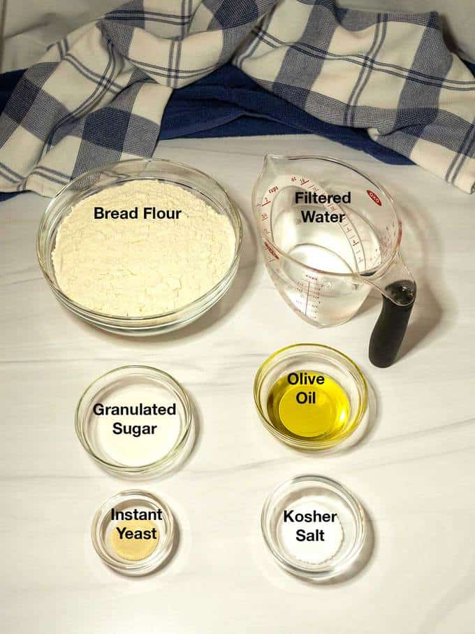 Ingredients for Pizza Dough