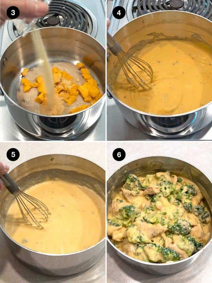 Putting Creamy Chicken Divan Together