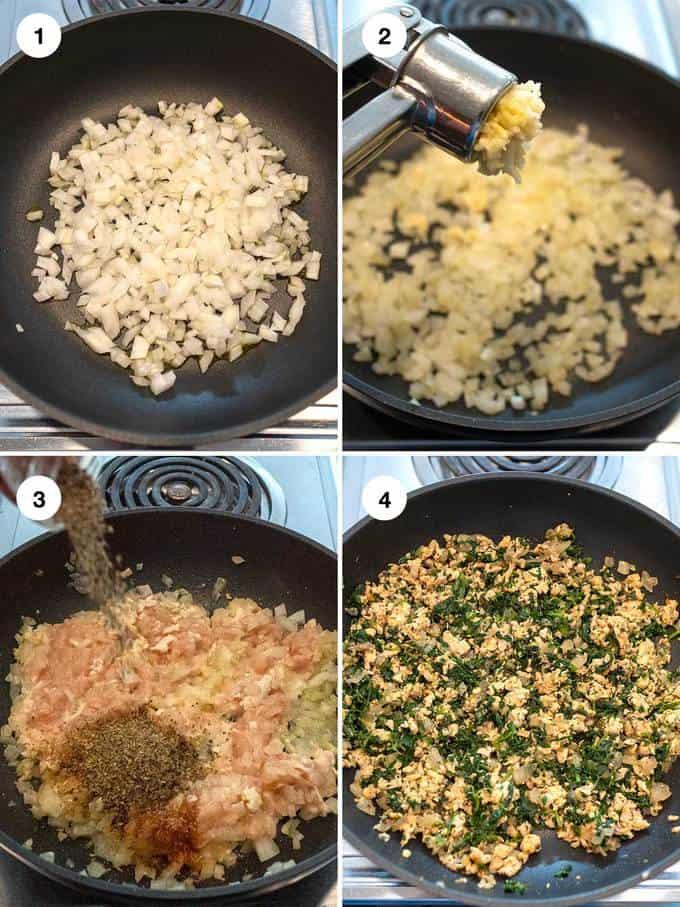 Preparing Chicken Mixture